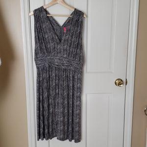 Anthropologie Gray and Black Dress, sz XL